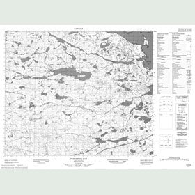 Canadian Topo Map - Porcupine Bay - Map 013H08