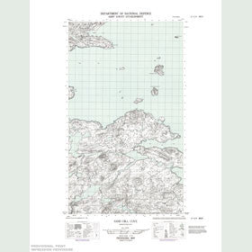 Canadian Topo Map - Sand Hill Cove - Map 013H09W