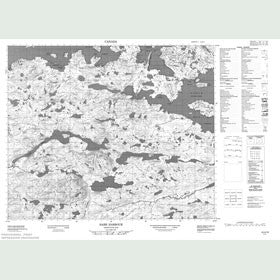Canadian Topo Map - Hare Harbour - Map 013H10
