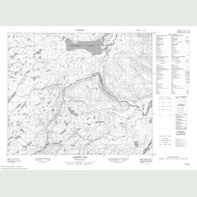 Canadian Topo Map - Barron Lake - Map 013H12