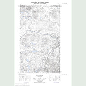 Canadian Topo Map - North River - Map 013H13E