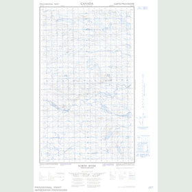 Canadian Topo Map - North River - Map 013H13W