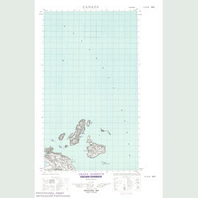 Canadian Topo Map - Grady Harbour - Map 013H16W