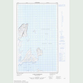 Canadian Topo Map - Cape Harrison - Map 013I13W