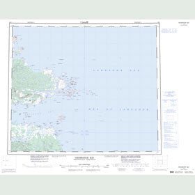 Canadian Topo Map - Groswater Bay - Map 013I