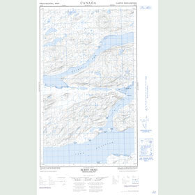 Canadian Topo Map - Burnt Head - Map 013J02E