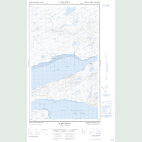 Canadian Topo Map - Burnt Head - Map 013J02W