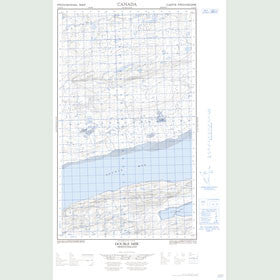 Canadian Topo Map - Double Mer - Map 013J03E