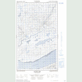 Canadian Topo Map - Double Mer - Map 013J03W