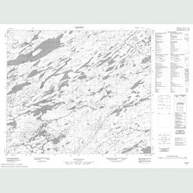 Canadian Topo Map - Map 013J05