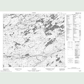 Canadian Topo Map - Clench Mountain - Map 013J06