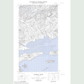 Canadian Topo Map - Ticoralak Island - Map 013J08E
