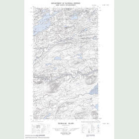 Canadian Topo Map - Ticoralak Island - Map 013J08W