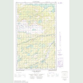 Canadian Topo Map - Lake Michael - Map 013J09E