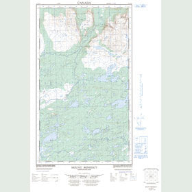 Canadian Topo Map - Mount Benedict - Map 013J10E