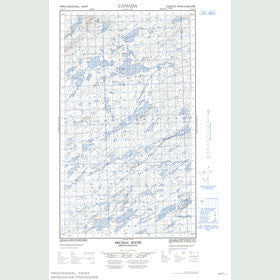 Canadian Topo Map - Micmac River - Map 013J11E