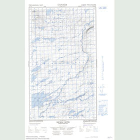 Canadian Topo Map - Micmac River - Map 013J11W