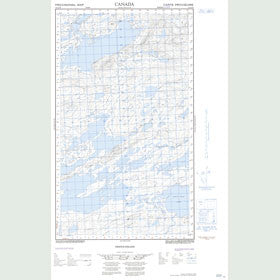 Canadian Topo Map - Michinappi Lake - Map 013J12E