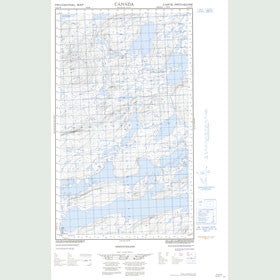 Canadian Topo Map - Michinappi Lake - Map 013J12W
