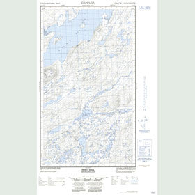 Canadian Topo Map - Post Hill - Map 013J13E