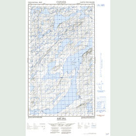 Canadian Topo Map - Post Hill - Map 013J13W