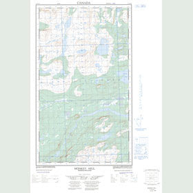 Canadian Topo Map - Monkey Hill - Map 013J14E