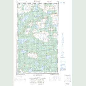 Canadian Topo Map - Monkey Hill - Map 013J14W