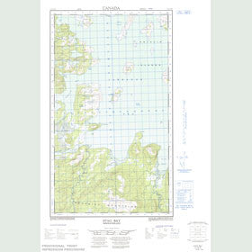 Canadian Topo Map - Stag Bay - Map 013J15W