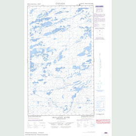Canadian Topo Map - Mulligan River - Map 013K01E