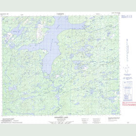 Canadian Topo Map - Nipishish Lake - Map 013K02