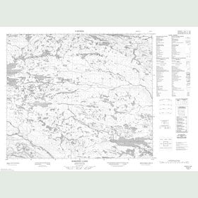 Canadian Topo Map - Dorothy Lake - Map 013K04