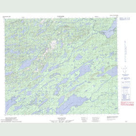 Canadian Topo Map - Map 013K07