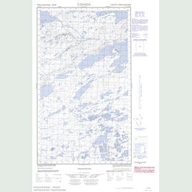Canadian Topo Map - Map 013K08W