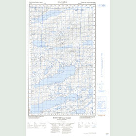 Canadian Topo Map - West Micmac Lake - Map 013K09E