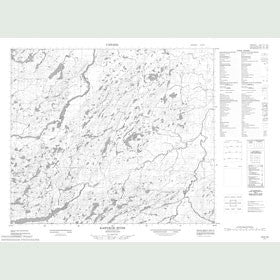 Canadian Topo Map - Kaipokok River - Map 013K10