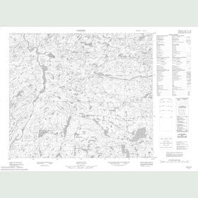Canadian Topo Map - Map 013K13