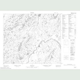 Canadian Topo Map - Map 013K15