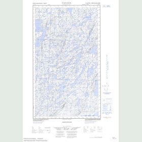 Canadian Topo Map - McGrath Lake - Map 013K16E