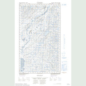 Canadian Topo Map - McGrath Lake - Map 013K16W