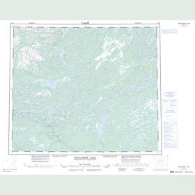 Canadian Topo Map - Snegamook Lake - Map 013K