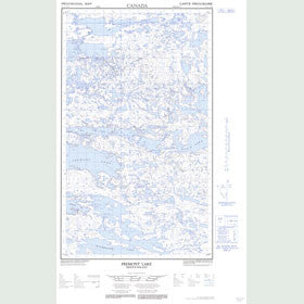 Canadian Topo Map - Fremont Lake - Map 013L03E