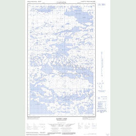 Canadian Topo Map - Agnes Lake - Map 013L04E