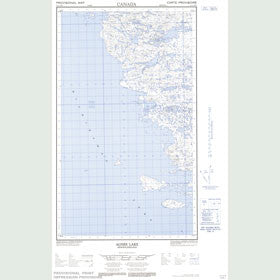 Canadian Topo Map - Agnes Lake - Map 013L04W