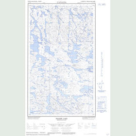 Canadian Topo Map - Fraser Lake - Map 013L05W