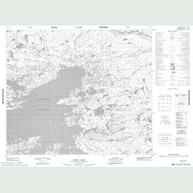 Canadian Topo Map - Proof Lake - Map 013L06