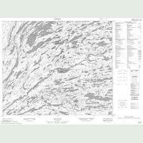 Canadian Topo Map - Map 013L08
