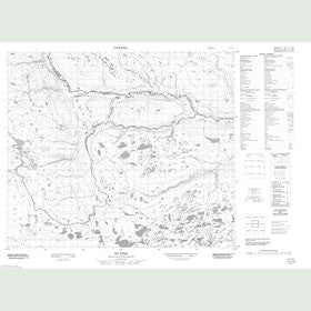 Canadian Topo Map - Map 013L10