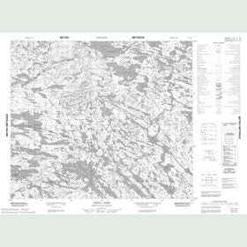 Canadian Topo Map - Ethyl Lake - Map 013L13