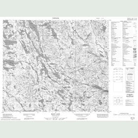 Canadian Topo Map - Main Lake - Map 013L14