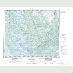 Canadian Topo Map - Red Wine Lake - Map 013L